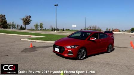 2017款现代伊兰特sport turbo版场地测试