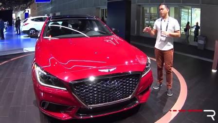 2016洛杉矶车展上的2018款Genesis G80 3.3T运动版