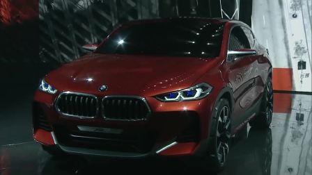亮骚的颜色造型 宝马发布全新概念车X2