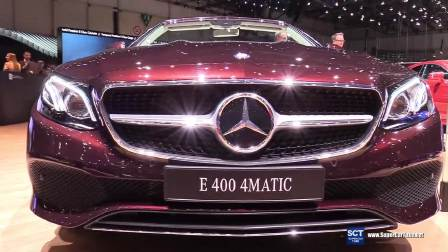 2017日内瓦车展 详细体验奔驰E400展示