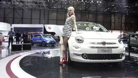 白皙欧美嫩模 搭配菲亚特500美丽至极