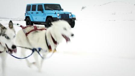 Jeep牧马人雪橇犬拉雪橇游戏