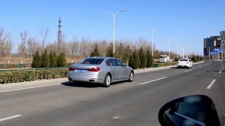 宝马7系 自适应巡航系统演示