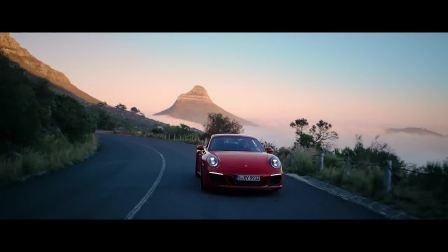 美丽的路线保时捷911 GTS南非