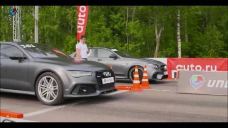 奔驰E63 AMG W213 vs奥迪RS7 你猜谁赢