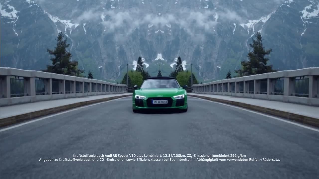 奥迪 R8 Spyder V10 plus 精彩广告