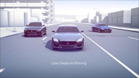 玛莎拉蒂驾驶辅助系统功能展示