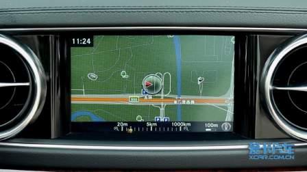奔驰SL级 导航系统展示