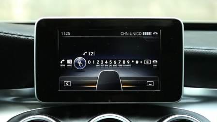 奔驰C级 娱乐及通讯系统展示