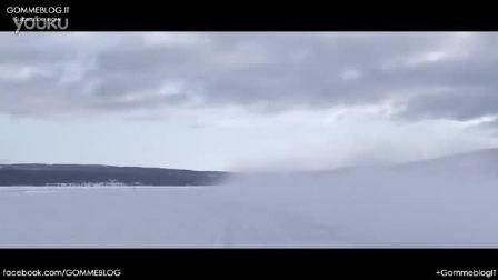 奥迪RS5 冰雪试驾 雪地漂移测试