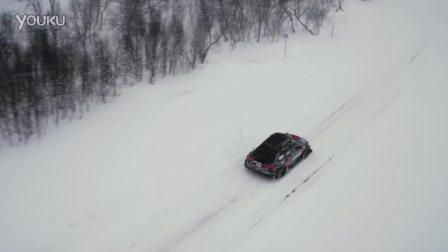 乔恩奥尔森的奥迪RS6 DTM雪中激情
