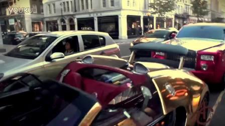 街头实拍超跑豪车齐聚一堂