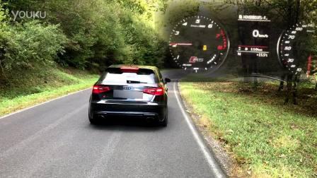 奥迪RS3 8vRS感受控制排气声音