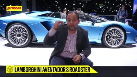 兰博基尼Aventador跑车在法兰克福汽车展