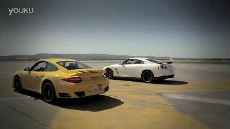 日产GT-R黑色版与保时捷911 Turbo S的终极对阵