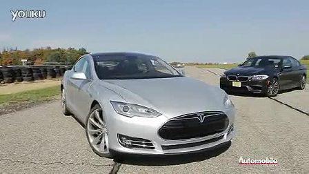 Tesla Model S 、宝马新 M5 Sedan 直线加速对比测试