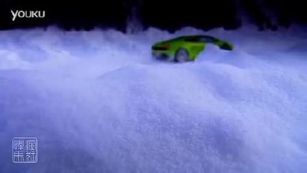兰博基尼Gallardo超级跑车 雪地漂移