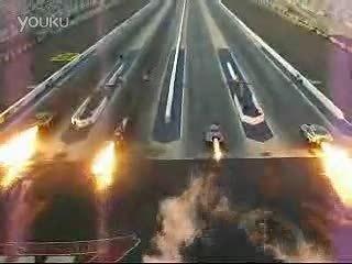 4台喷气引擎车加速赛