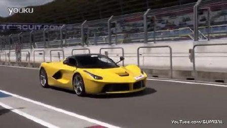 法拉利 LaFerrari在赛场启动加速过弯