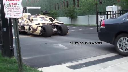 酷爆了 街头惊现三辆耍酷的蝙蝠侠战车