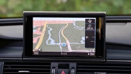 奥迪A7 导航系统展示