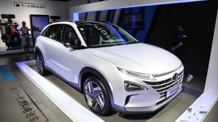 2017广州车展 现代 燃料电池车助力环保