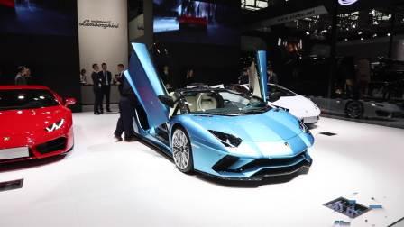 2017广州车展 兰博基尼 Aventador S敞篷版