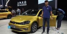 2017广州车展 大众新高尔夫靓丽外观