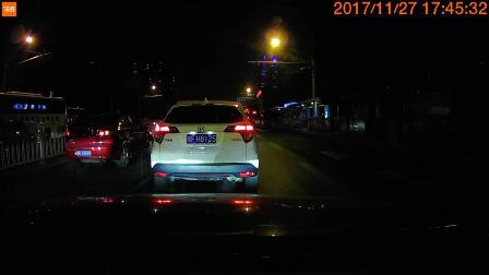 70迈智能行车记录仪 夜晚拍摄情况