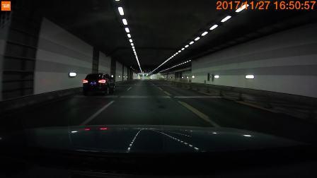 70迈智能行车记录仪 隧道拍摄情况