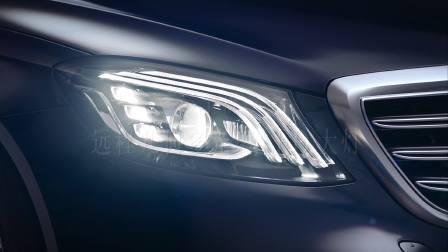 奔驰新一代S级轿车 远程几何多光束LED大灯