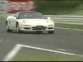 埃尔顿·塞纳在铃鹿驾驶本田初代NSX