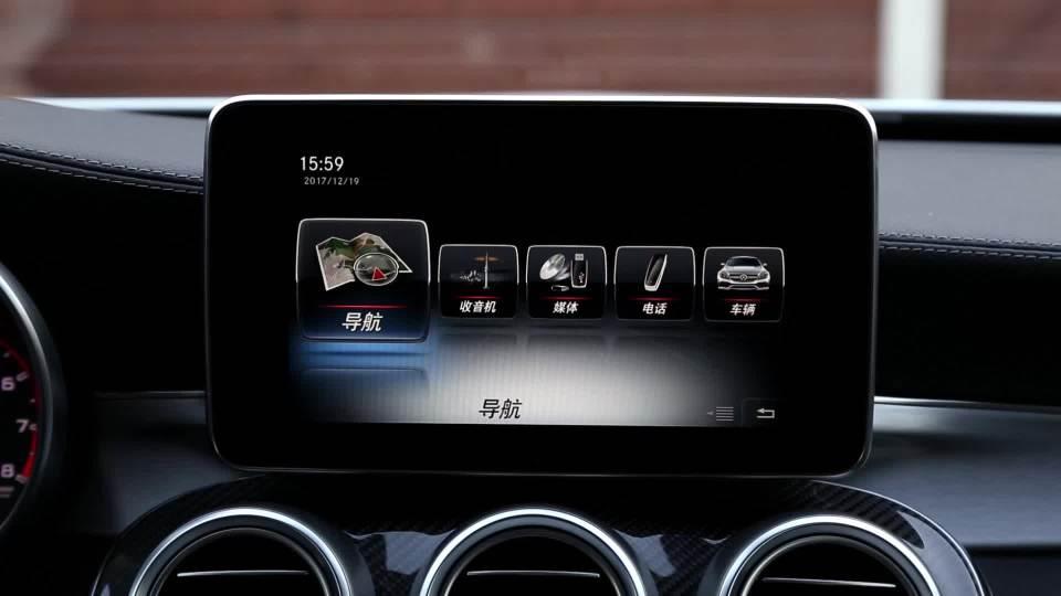 奔驰C级AMG 娱乐及通讯系统展示