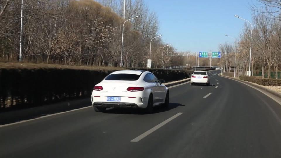 奔驰C级AMG 自适应巡航展示