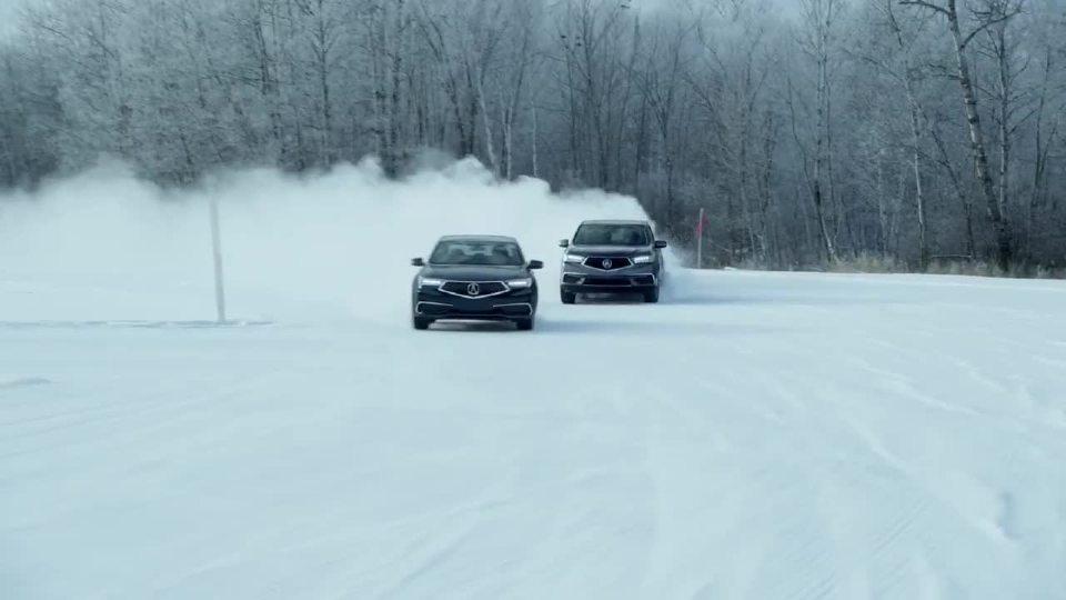 讴歌MDX与TLX 超级全驱冬季性能测试