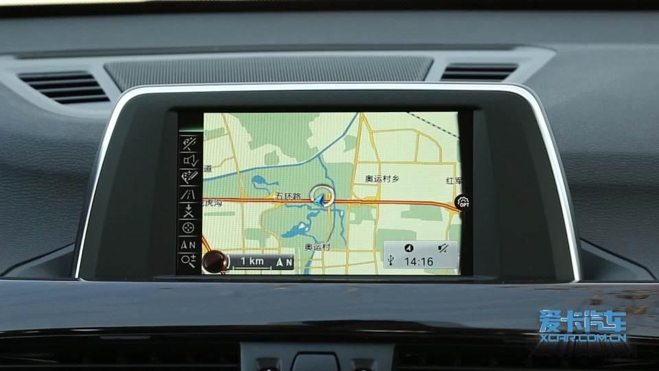 华晨宝马X1混合动力 导航系统展示