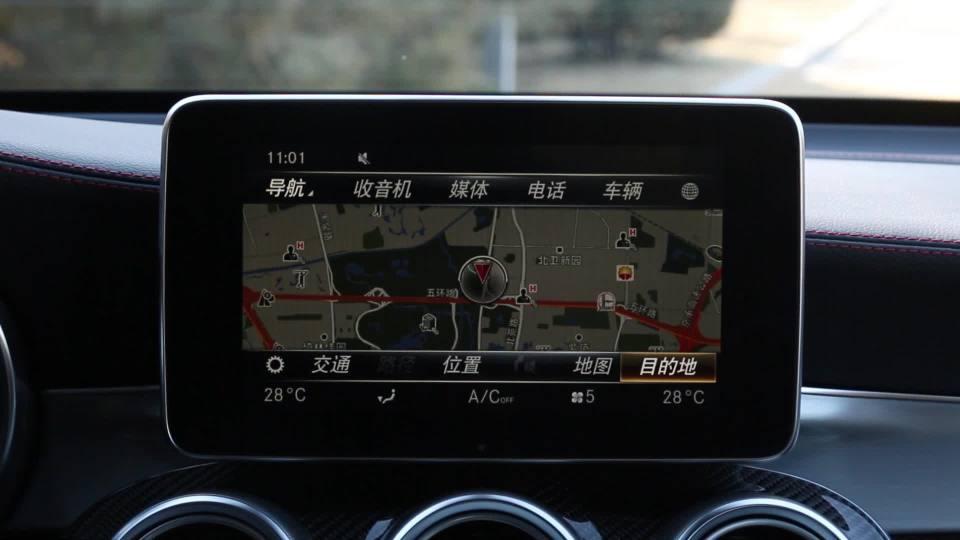 奔驰GLC级AMG 导航系统展示