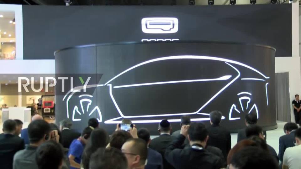 观致提出模型k-ev电动概念车在2017上海车展