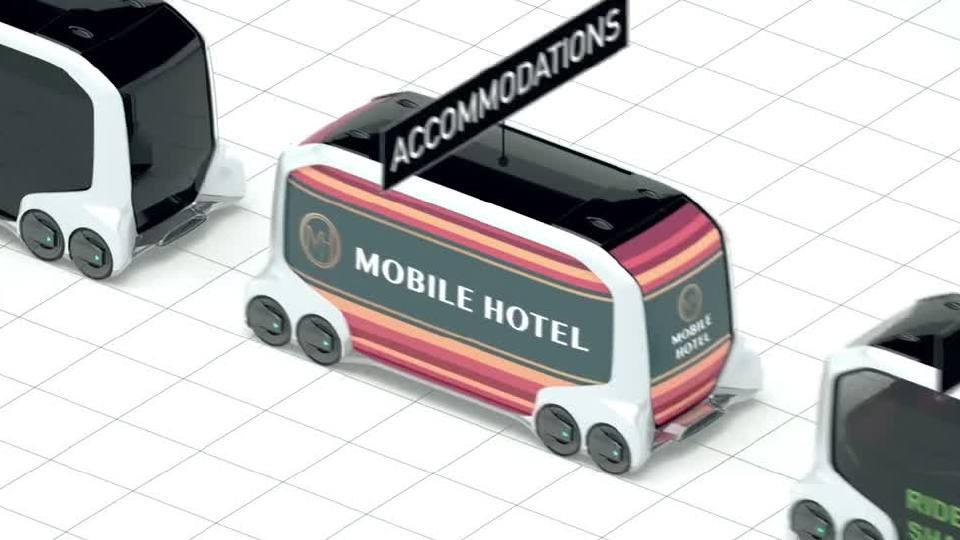 丰田e-Palette生态模式 交通出行新理念