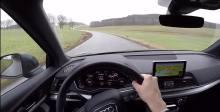 奥迪 第一视角直观感受车辆行驶的稳定性