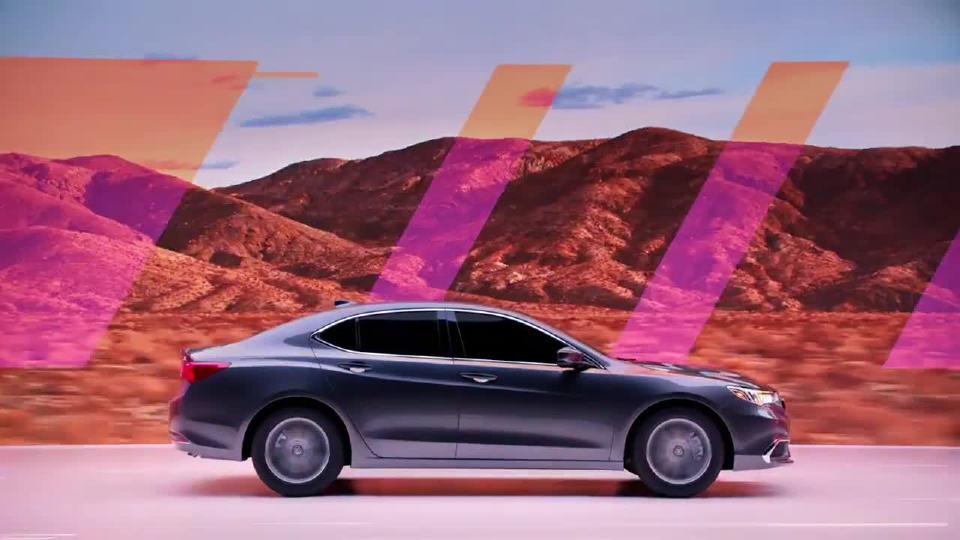 讴歌 精彩广告TLX凸显流线设计 沙漠主题