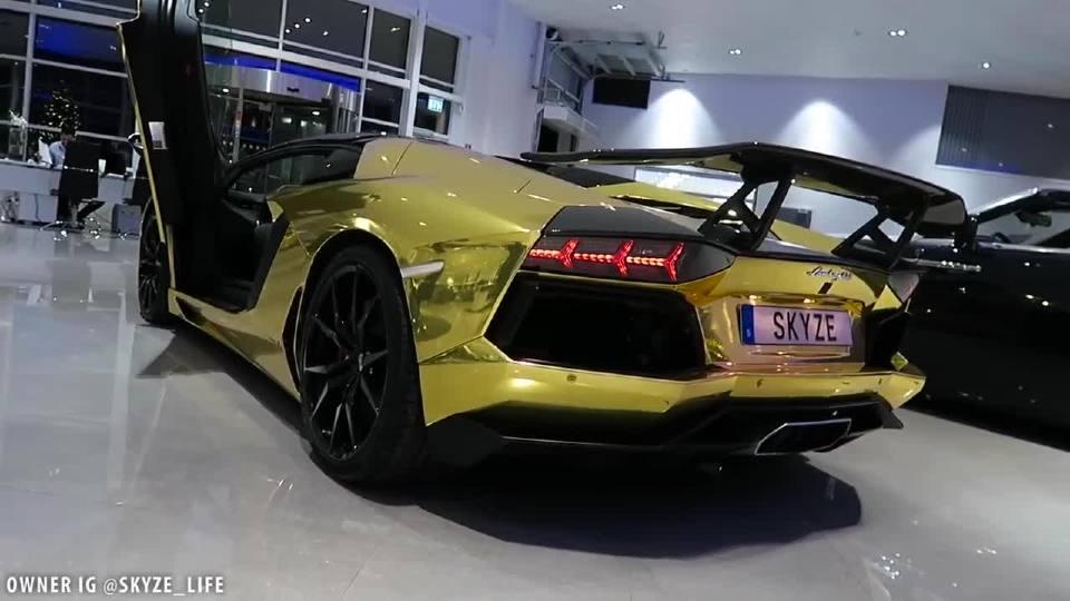 有钱人的生活就是看看车 听听排气声