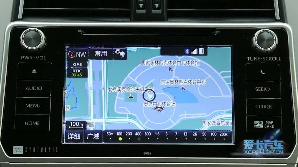 2018款丰田普拉多 导航系统展示