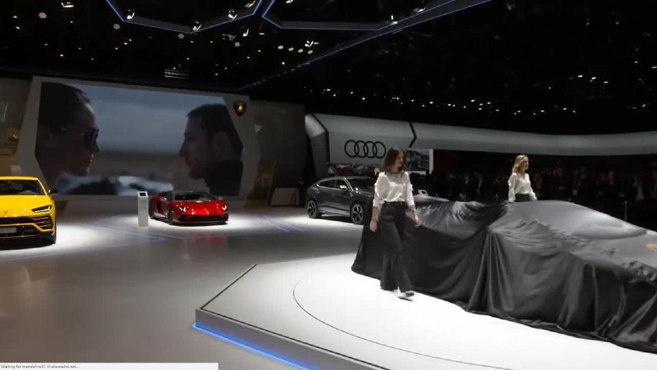 2018日内瓦车展 兰博基尼展台上的演讲