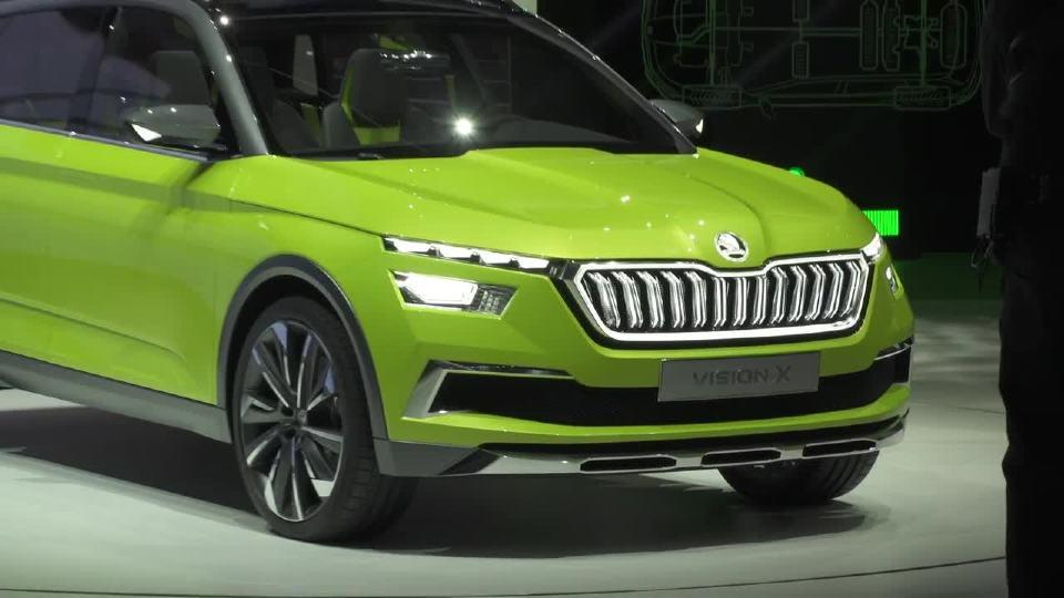 2018年日内瓦车展斯柯达VisionX展示