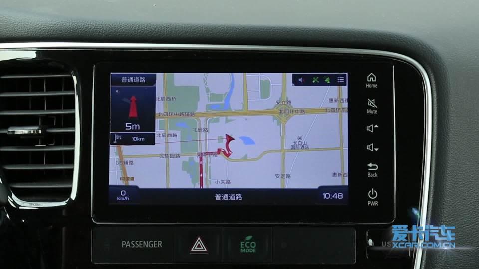 2018款三菱欧蓝德 导航系统展示