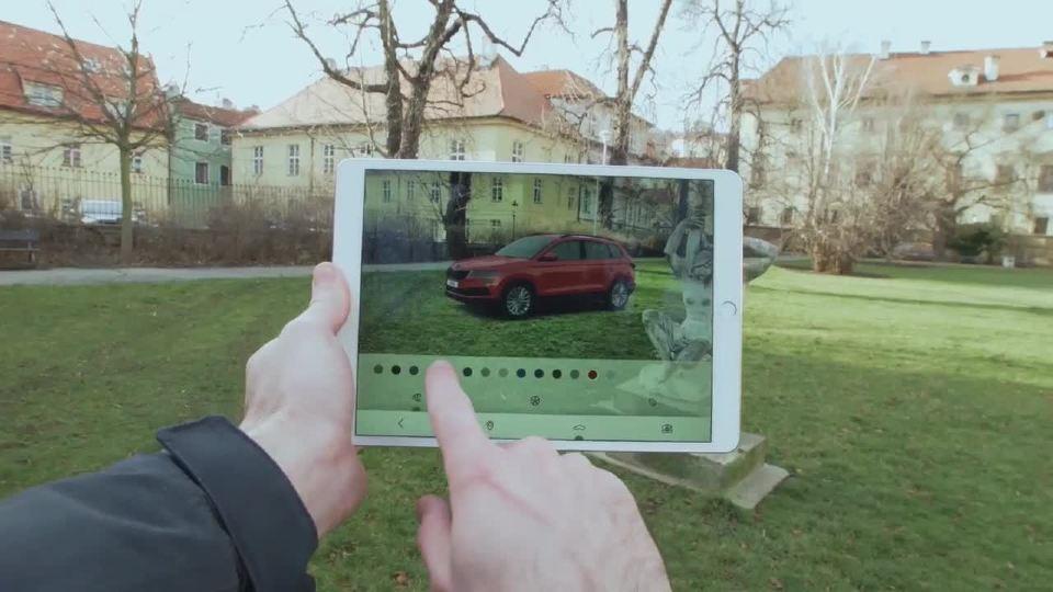 斯柯达 AR应用程序 karoq在你的口袋里