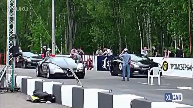 布加迪威龙 大战 GTR 直线加速比赛 精彩