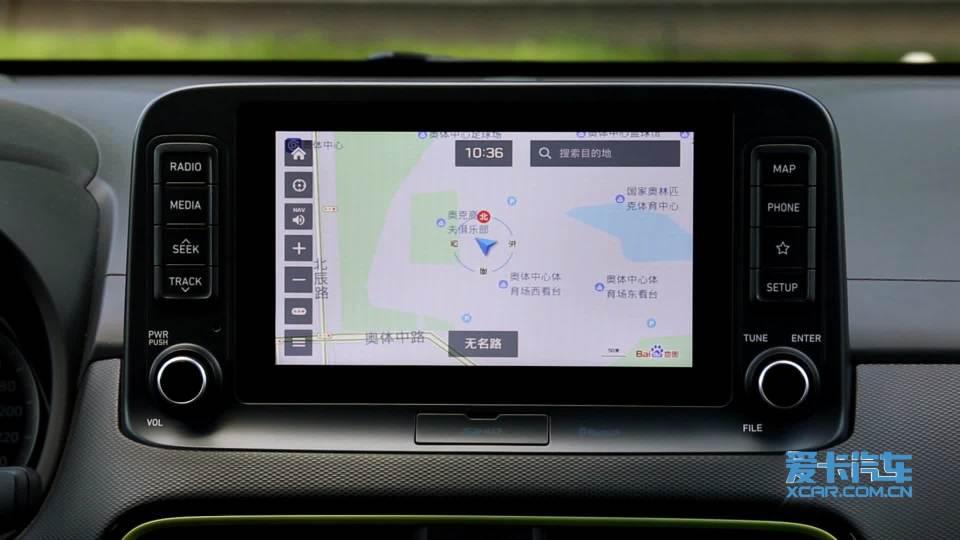 北京现代ENCINO 导航系统展示