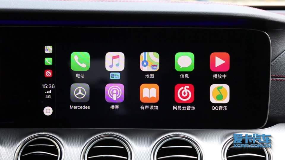 奔驰E级AMG CarPlay展示